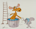 Animation Art:Production Drawing, Gerard Baldwin Rocky and Bullwinkle Illustration OriginalArt (undated).. ...