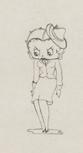 Animation Art:Production Drawing, Judge for a Day Betty Boop Production Drawing Animation Art(Fleischer Studios, 1935)....