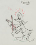 Animation Art:Production Drawing, Autograph Hound Donald Duck Production Drawing Animation Art(Walt Disney, 1939)....