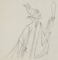 Animation Art:Production Drawing, Sleeping Beauty Maleficent with Torch Production DrawingAnimation Art (Walt Disney, 1959)....
