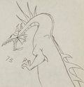 Animation Art:Production Drawing, Sleeping Beauty Maleficent as Dragon Production DrawingAnimation Art (Walt Disney, 1959)....