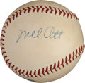 Autographs:Baseballs, Late 1950's Mel Ott Single Signed Baseball, PSA/DNA NM 7....