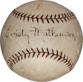 Autographs:Baseballs, 1919-24 Christy Mathewson Single Signed Baseball....