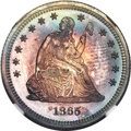 Proof Seated Quarters, 1865 25C PR68 NGC. Briggs 3-B....