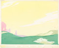 Animation Art:Painted cel background, Canine Caddy Master Background Painting (Walt Disney, 1941)....