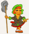 "Animation Art:Production Cel, Carol Burnett ""Charwoman"" Production Cel and Drawing (undated)....(Total: 2 )"