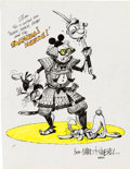 Animation Art:Production Drawing, Ward Kimball Samurai Mouse Illustration (1990).... (Total: 2Items)