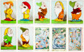 Animation Art:Limited Edition Cel, Snow White and the Seven Dwarfs Postcard Set (Valentine& Sons, Ltd./Walt Disney, 1937).... (Total: 10 Items)