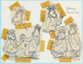 "animation art:Model Sheet, The Flintstones ""Love Letters on the Rock"" Perry GuniteModel Sheet (Hanna-Barbera, 1961)...."