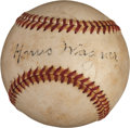 Autographs:Baseballs, 1940's Honus Wagner Single Signed Baseball....