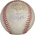 Baseball Collectibles:Balls, 2009 World Series Game Used Baseball Signed by Derek Jeter. ...