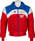 """Hockey Collectibles:Others, 1980 Herb Brooks USA Olympics Team Coat and Knit """"H.B."""" Hat...."""