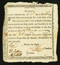 Colonial Notes:Massachusetts, State of Massachusetts Bay Treasury Certificate £40 February 4,1777 Anderson MA-4 Very Fine-Extremely Fine.. ...