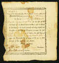 Colonial Notes:Massachusetts, State of Massachusetts Bay Treasury Certificate £226 13s 4dDecember 20, 1776 Anderson MA-2 Very Fine-Extremely Fine.. ...