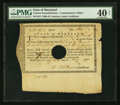 Colonial Notes:Maryland, Maryland Army Certificate £20 19s 5d May 26, 1781 Anderson MD-2 PMGExtremely Fine 40 Net.. ...