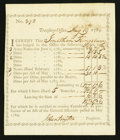 Colonial Notes:Connecticut, Connecticut Treasury Office Transfer Certificate August 19, 1789About New.. ...