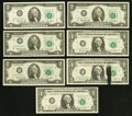 Error Notes:Ink Smears, Federal Reserve Note Mixture Including an Error.. ... (Total: 7notes)