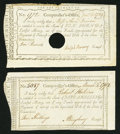Colonial Notes:Connecticut, Connecticut Interest Certificates Two Examples.. ... (Total: 2notes)