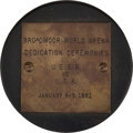 Hockey Collectibles:Others, 1961 Herb Brooks USSR vs. USA Presentational Puck. ...