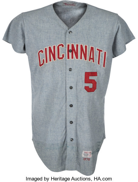 check out 3fb0b ff09e 1970 Johnny Bench Game Worn Cincinnati Reds Jersey, MEARS A9 ...