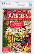 Silver Age (1956-1969):Superhero, The Avengers #1 (Marvel, 1963) CBCS VF+ 8.5 Off-white to whitepages....