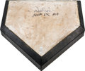 Baseball Collectibles:Others, 2012 Derek Jeter 200th Postseason Hit Game Used Home Plate....