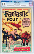 Silver Age (1956-1969):Superhero, Fantastic Four #4 (Marvel, 1962) CGC VF+ 8.5 Off-white to whitepages....