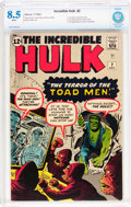 Silver Age (1956-1969):Superhero, The Incredible Hulk #2 (Marvel, 1962) CBCS VF+ 8.5 White pages....