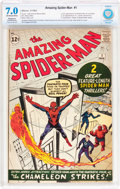 Silver Age (1956-1969):Superhero, The Amazing Spider-Man #1 Trimmed (Marvel, 1963) CBCS RestoredFN/VF 7.0 Slight to Moderate (A) Off-white to white pages....