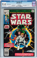 Bronze Age (1970-1979):Science Fiction, Star Wars #1 35¢ Price Variant (Marvel, 1977) CGC NM 9.4 White pages....