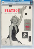 Magazines:Miscellaneous, Playboy #1 Newsstand Edition (HMH Publishing, 1953) CGC VF+ 8.5White pages....
