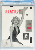 Magazines:Miscellaneous, Playboy #1 (HMH Publishing, 1953) CGC VG+ 4.5 White pages....