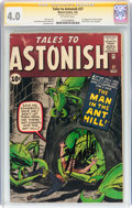 Silver Age (1956-1969):Superhero, Tales to Astonish #27 Signature Series (Marvel, 1962) CGC VG 4.0Off-white pages....