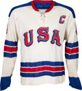 Hockey Collectibles:Uniforms, 1968 Herb Brooks Game Worn USA Olympic Hockey Team Jersey....