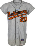 Baseball Collectibles:Uniforms, 1966 Frank Robinson Game Worn Baltimore Orioles Jersey....