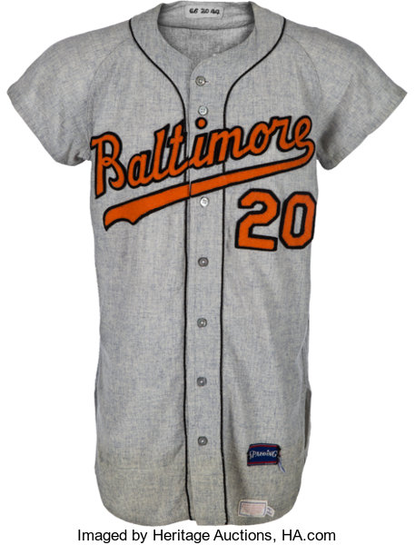 reputable site 1b076 1a151 1966 Frank Robinson Game Worn Baltimore Orioles Jersey ...