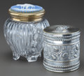 Decorative Arts, Continental:Other , TWO CIGAR JARS, 19th century. 6-1/2 inches high (16.5 cm)(highest). ... (Total: 2 Items)