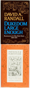 Books:Books about Books, [Books about Books]. Nicholas A. Basbanes. Patience & Fortitude: A Roving Chronicle of Book People, Book Places, and Boo... (Total: 2 Items)