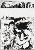 Original Comic Art:Splash Pages, José Ortiz Vampirella #94 Pantha Story Page 1 Original Art(Warren, 1981)....