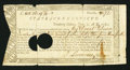 Colonial Notes:Connecticut, Connecticut Treasury Certificate £101 16s 9 3/4d June 1, 1780Anderson CT-18 Very Good, HOC.. ...