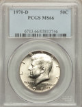 Kennedy Half Dollars: , 1970-D 50C MS66 PCGS. PCGS Population (425/12). NGC Census:(123/5). Mintage: 2,150,000. Numismedia Wsl. Price for problem ...