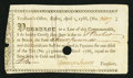 Colonial Notes:Massachusetts, Massachusetts Treasury Tax Collector's Certificate £4 April 1, 1786Anderson MA-39 Very Fine, POC.. ...