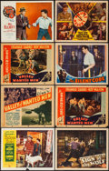 "Movie Posters:Adventure, Drums of the Desert & Others Lot (Monogram, 1940). Title LobbyCards (2) & Lobby Cards (6) (11"" X 14""). Adventure.. ...(Total: 8 Items)"