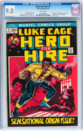 Bronze Age (1970-1979):Superhero, Hero for Hire #1 (Marvel, 1972) CGC VF/NM 9.0 White pages....