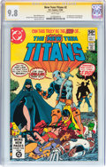Modern Age (1980-Present):Superhero, New Teen Titans #2 Signature Series (DC, 1980) CGC NM/MT 9.8 Whitepages....
