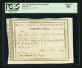 Colonial Notes:Connecticut, Connecticut Civil List Certificate £62 9s 6d September 30, 1794 PCGS About New 50.. ...