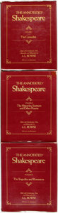 Books:Literature Pre-1900, [William Shakespeare]. A. L. Rowse, editor. The AnnotatedShakespeare, vols I - III. New York: Clarkson N. Potter, I...(Total: 3 Items)