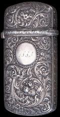 Silver Smalls:Match Safes, A WHITING SILVER MATCH SAFE, New York, New York, circa 1880. Marks:(W-griffin), STERLING, 15. 2-3/4 inches high (7.0 cm...
