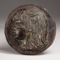 Coco After Pierre Auguste Renoir, French (1841-1919) 1907 Bronze with dark brownish green patina Inc