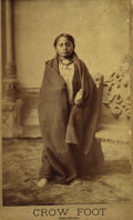 Photography:Official Photos, LARGE BARRY IMAGE OF SITTING BULL'S SON, CROW FOOT. Early inBarry's career, he took periodic trips from Bismarck to Ft. McG...(Total: 2 Item)